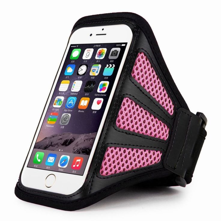"""Pink+For+iPhone+6+Plus+5.5""""+Sports+Running+Cycling+Mesh+Armband+Phone+Case+Cover"""