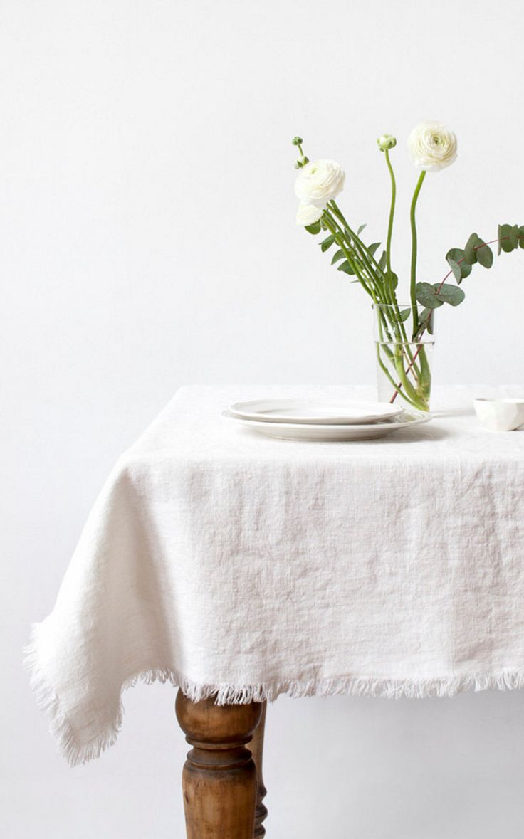 Stone Washed Linen Tablecloth | Linen Tales on Etsy