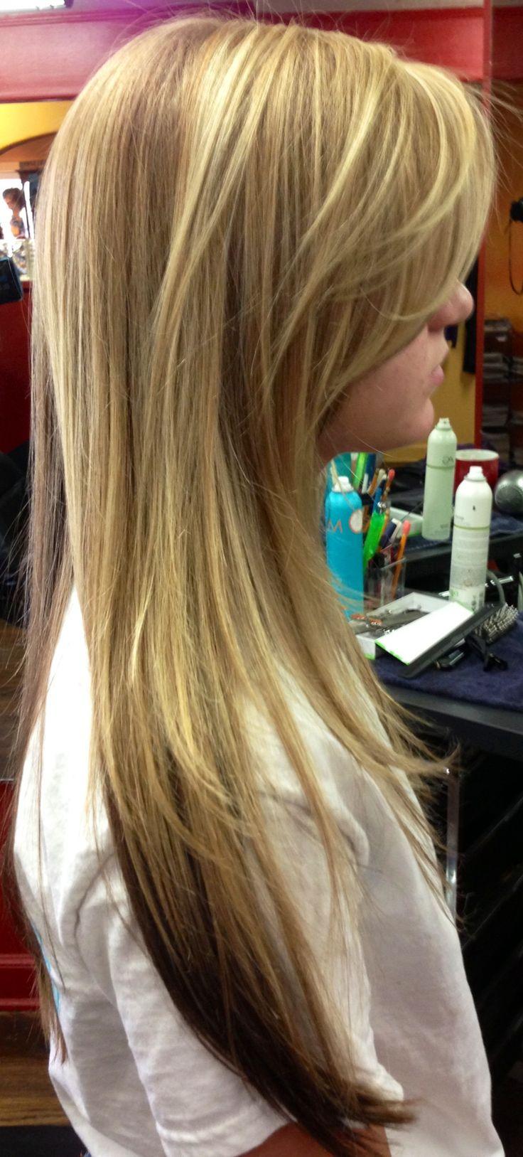 Honey Blonde With Dark Blonde Underneath Olive Hair
