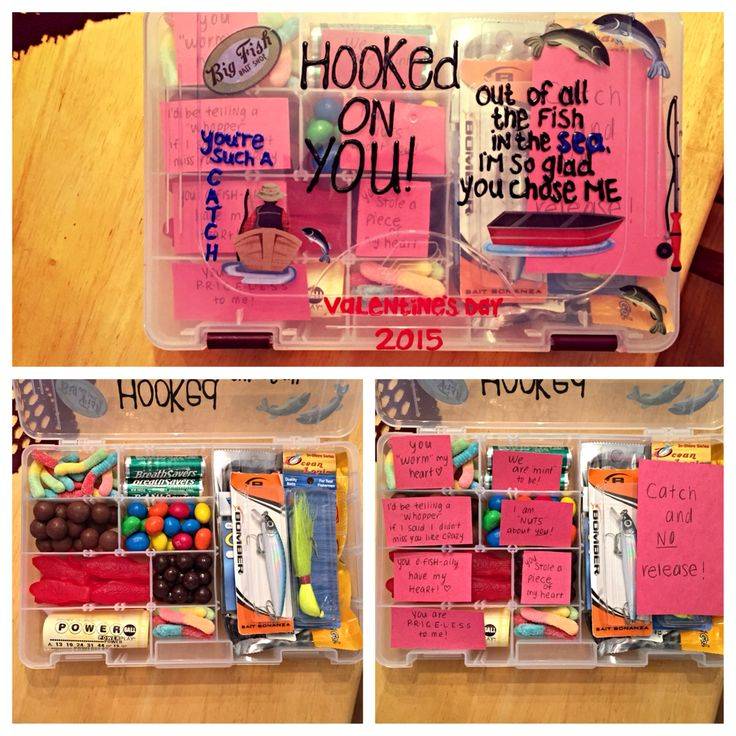 Valentine's Day tackle box made by me!