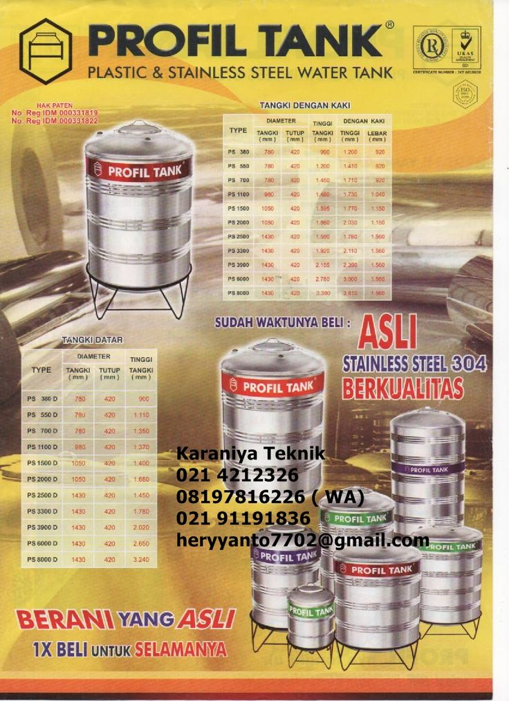 Water Toren  Profil Stainless di  Surabaya   021 4212326 , 021 911 91836 , 08197816226   https://www.tokopedia.com/neocatalonia/tandon-profil-tank-ps-3900-d?n=1