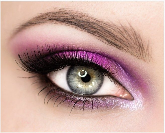 pink with silver night out eye makeup