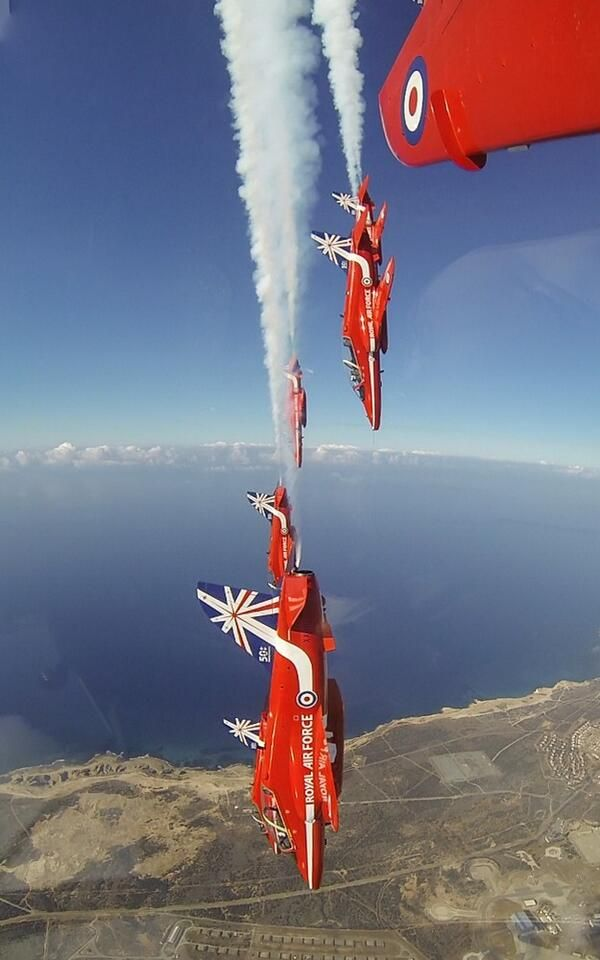 The Red Arrows. Cyprus 2014.