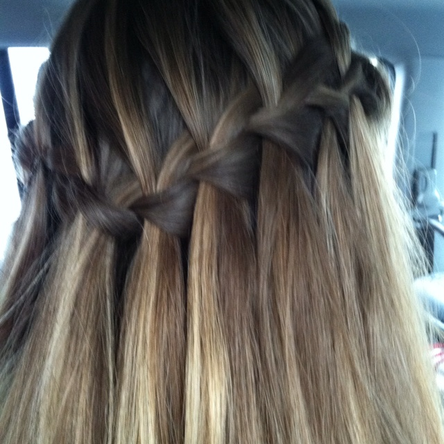 braided hair styles best 25 waterfall braid prom ideas on 1578