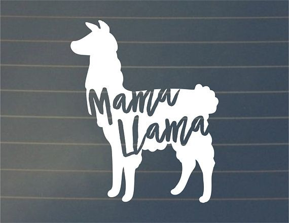 Mama llama vinyl decal crafts etc For glasses