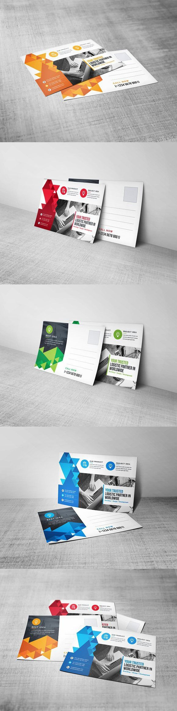Postcard Template. Stationery Templates