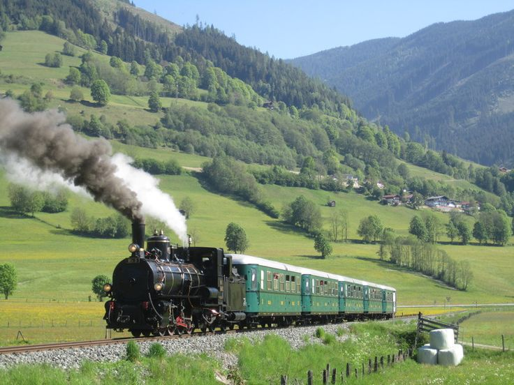 Travel on the Zillertal steam train and ride along the Austrian Alps. #feelaustria