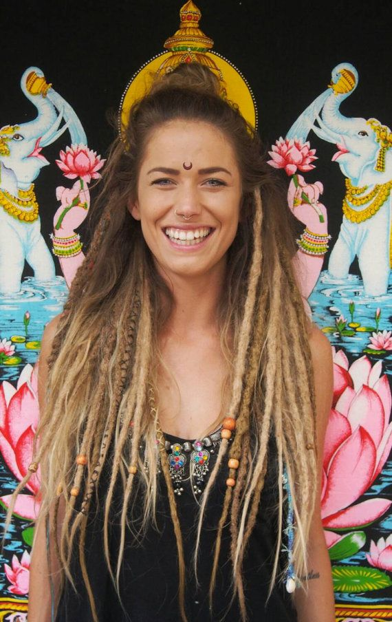 brown and bonde dreadlocks | Light honey Brown & Blonde Mix Dreadlocks - Day of the Dreads