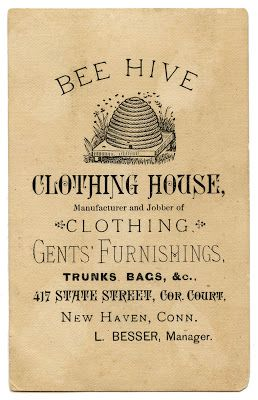 Vintage Advertising Ephemera – Bee Hive Clothing- use with the locker redo