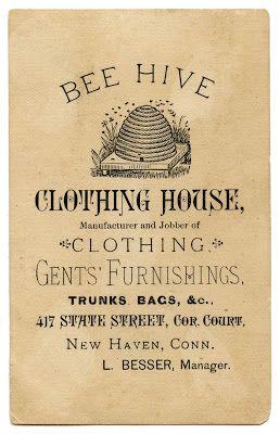*The Graphics Fairy LLC*: Vintage Advertising Ephemera - Bee Hive Clothing vintage aged ephemera