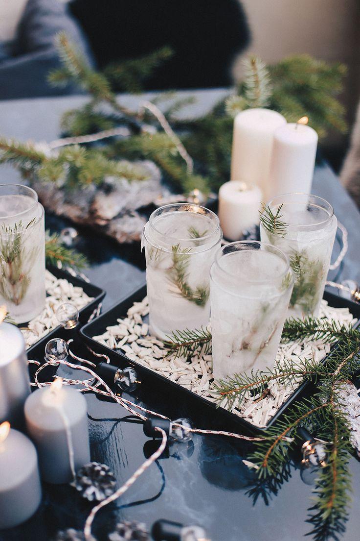 Eis Teelichter Winter DIY Fr Draussen