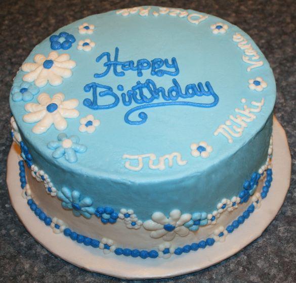 Men S Birthday Cake Pictures Free To Blue Vanilla