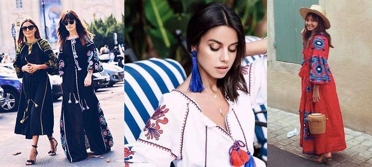 Белье макси dress вышитые красный белый цветочный узор кистями женщин dress Украинский Vyshyvanka хиппи шик стиль марка одежды купить на AliExpress