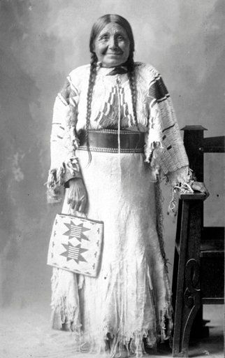 Nez Perce elder ,carrying a beaded purse....Pacific Southwest tribe in Washington State.