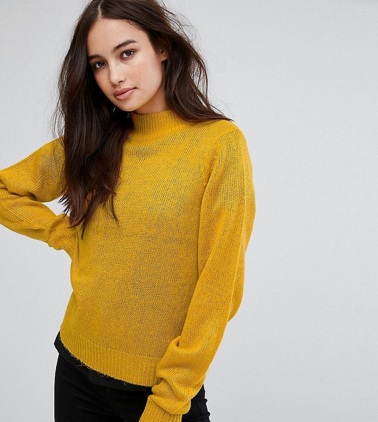 Vila Exclusive High Neck Knitted Sweater - Gold