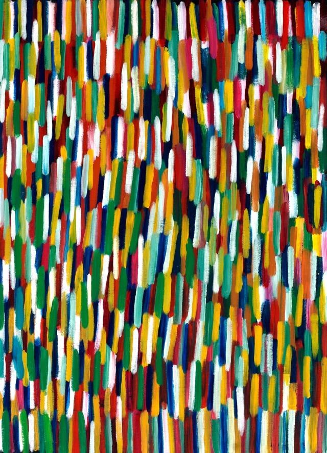 Evelyn Pultara  Bush Yam Dreaming  Acrylic on Belgian Linen