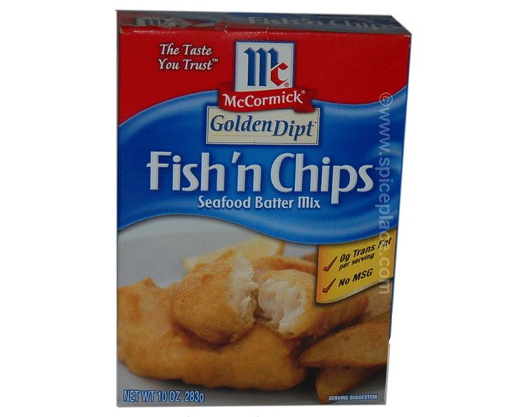 Golden dipt fish and chips batter 10oz case of 12 for Eds fish and chips