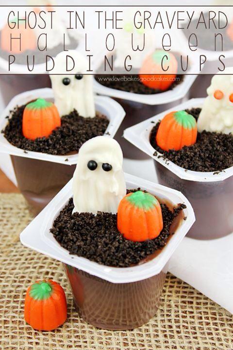 Mini graveyard pudding cup