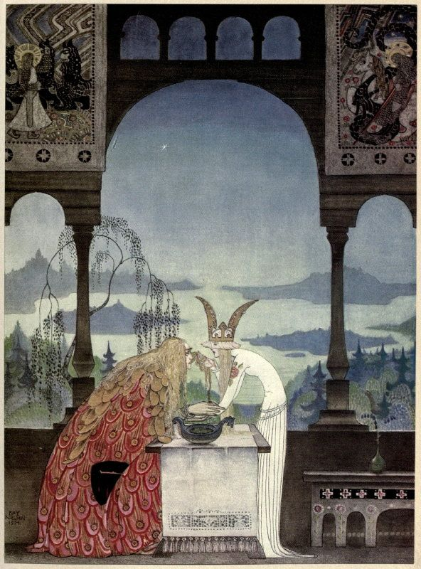 """The queen did not know him""  Kay Nielsen's Stunning 1914 Scandinavian Fairy Tale Illustrations 