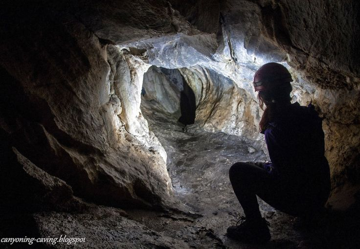 Caving at Aridaia, Greece