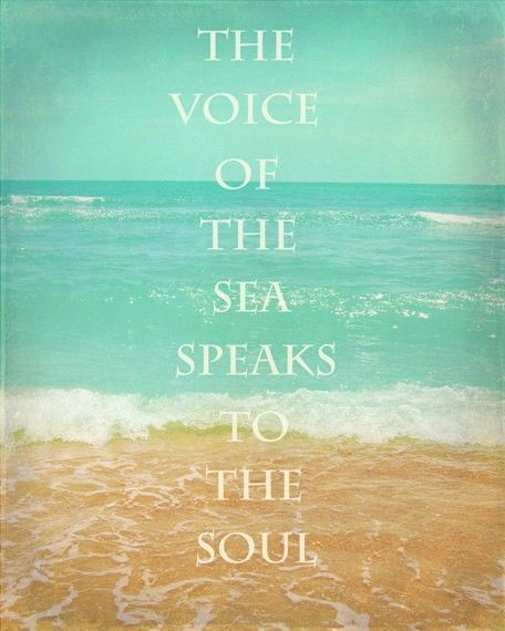 Beach Quote Art Print   Inspirational Aqua Tan Beach House Home Decor Wall  Art Photograph Photo The Voice Of The Sea Speaks To The.