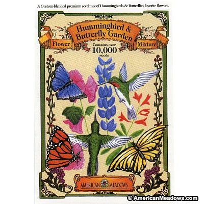 One Oz. Mixture, over 10,000 Seeds. This mix contains 16 quick-growing, bright, beautiful favorite flowers of butterflies and hummingbirds.