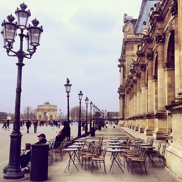We need to take pictures here! Café Marly Paris                              …