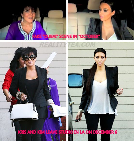 PHOTOS – Proof That Kim Kardashian's Reality Show Is Fake! Scene With Kris Jenner Was Staged