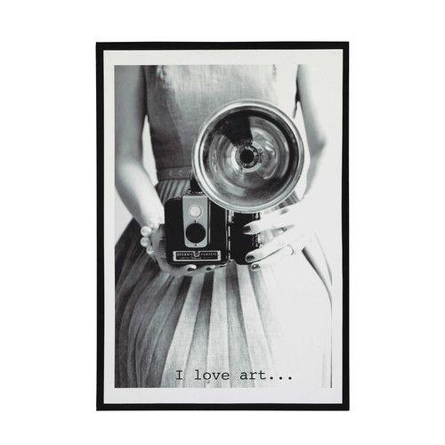 Toile vintage en bois 76 x 110 cm STUDIO