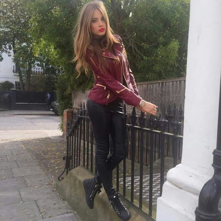 sexy russian girl in leather