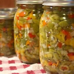 "Hot Italian Giardiniera | ""Family and friends are asking for this in lieu of jams for Christmas food gifts. LOVE IT."""