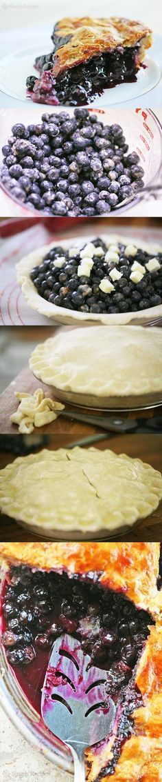 EASY BLUEBERRY PIE RECIPE Ingredients Crust: One double recipe for all butter pie crust dough Filling ingredients: 6 cups (about 2 1/4 pounds or 1 kilo) of fresh (or frozen) blueberries, rinsed and…
