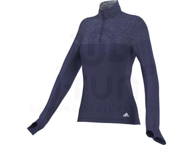 Idéal pour vous protéger des intempéries, le maillot adidas Supernova Storm bleu pour femme (Collection Automne/Hiver) vous garde au sec et à l\'abri. La technologie ClimaProof Wind offre une défense contre le vent et la pluie en étant coupe-vent et imperméable.