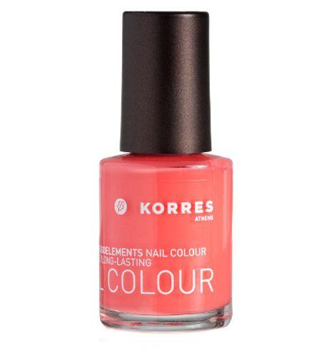 KORRES Nail Colour 16 Flamingo Pink with Myrrh & Oligoelements