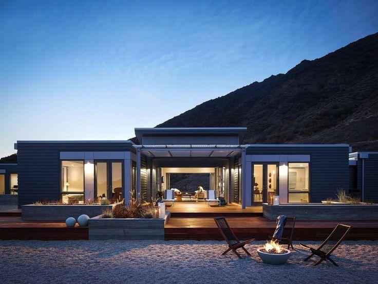 cool beach side prefab home