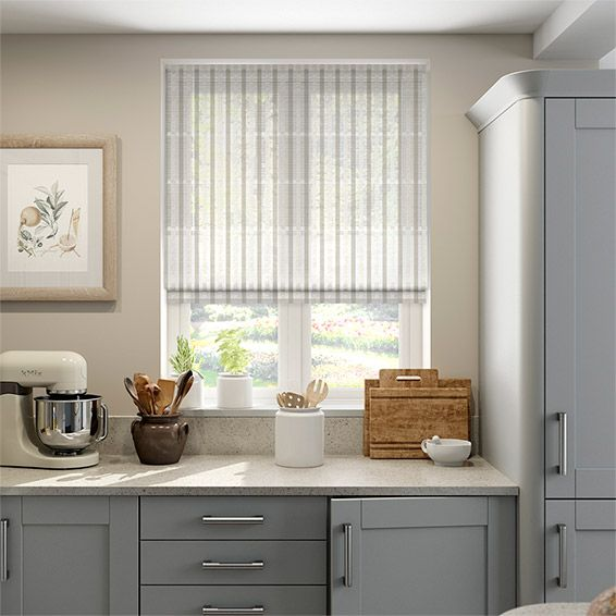 Pinar Voile Neutral Roman Blind from Blinds 2go