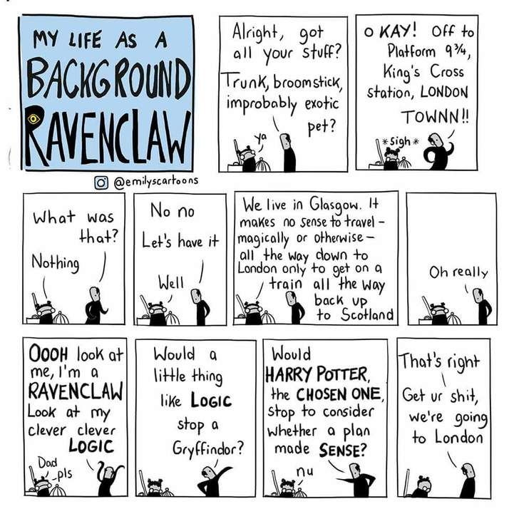 Life as a background Ravenclaw