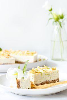 Vegan kokos limoencheesecake - Zoetrecepten