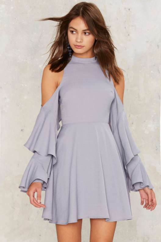 Following the River Cold Shoulder Dress