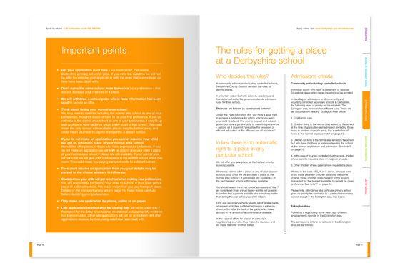 Derbyshire Schools | Prospectus and Guide Graphic Design | Memo