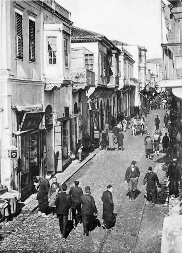 Thessaloniki, Venizelou str. (Sabri Pasha) 1910 - Οδός Σαμπρί Πασά (Βενιζέλου) τη δεκαετία του 1910