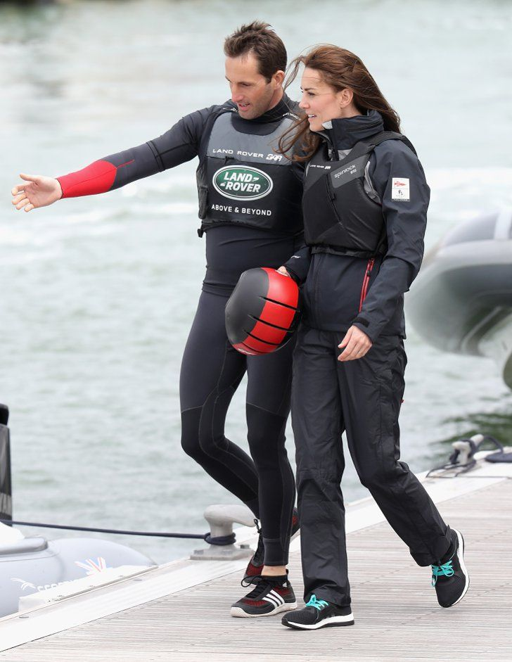 Pin for Later: Kate Middleton Just Brought Back a Favorite McQueen Outfit — and It's Not Her Wedding Dress Kate's Sailing Outfit, May 2016