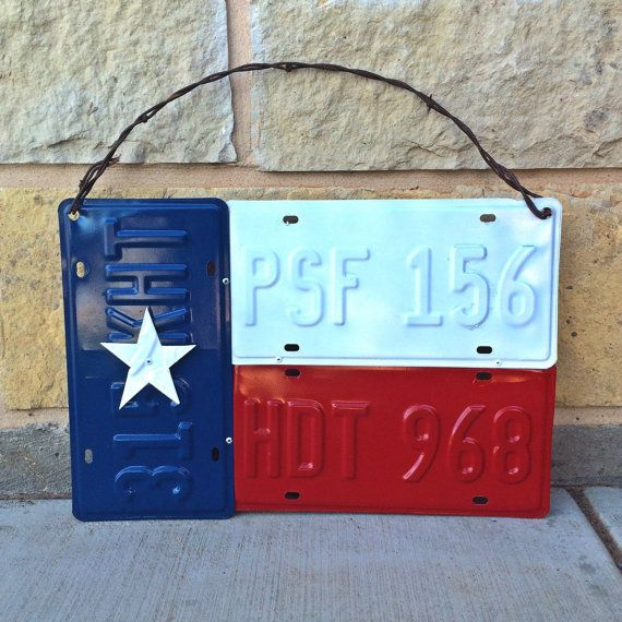 Texas License Plate Lone Star Flag by NotYourMomsCraftBox on Etsy