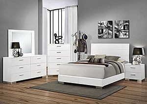 quality white bedroom furniture fine. High Gloss White California King Bed, Dresser Quality Bedroom Furniture Fine