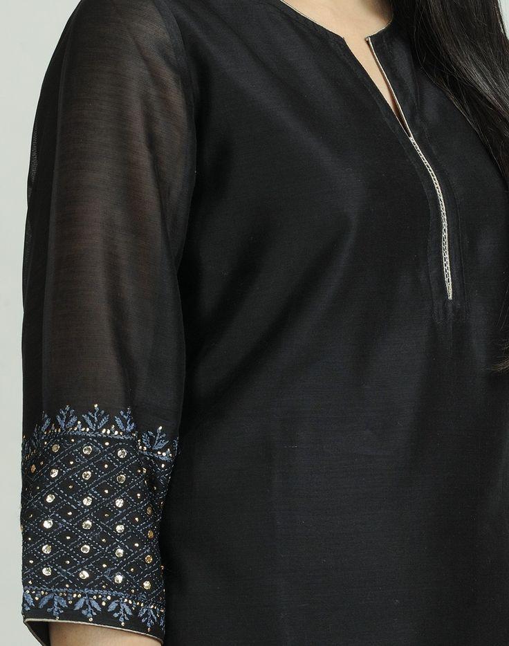 Fabindia.com | Silk Cotton Lucknavi Pita Mini Kurta