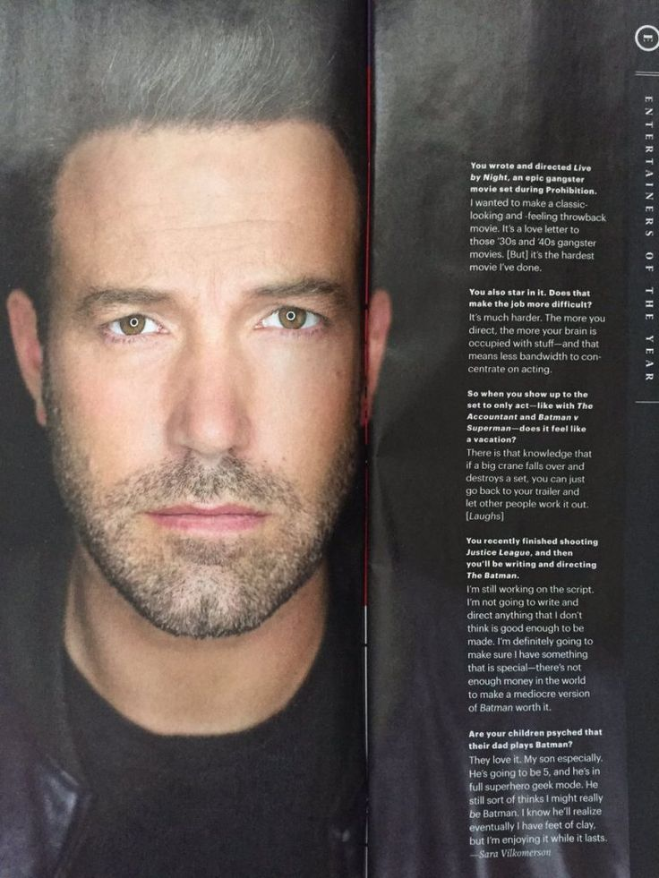 """BEN AFFLECK: """"There's not enough money in the world to make a mediocre version of Batman worth it"""" – ReckNews.Com"""