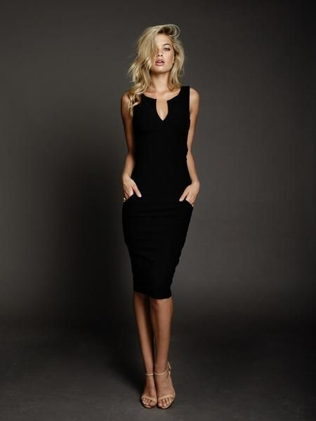 Alexis Dress in Black by DUKE n co