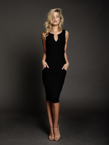 DUKE n co Designer ALEXIS Black Pencil Dress
