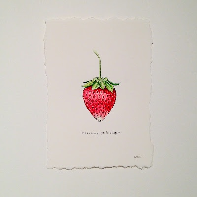 cute strawberry drawing
