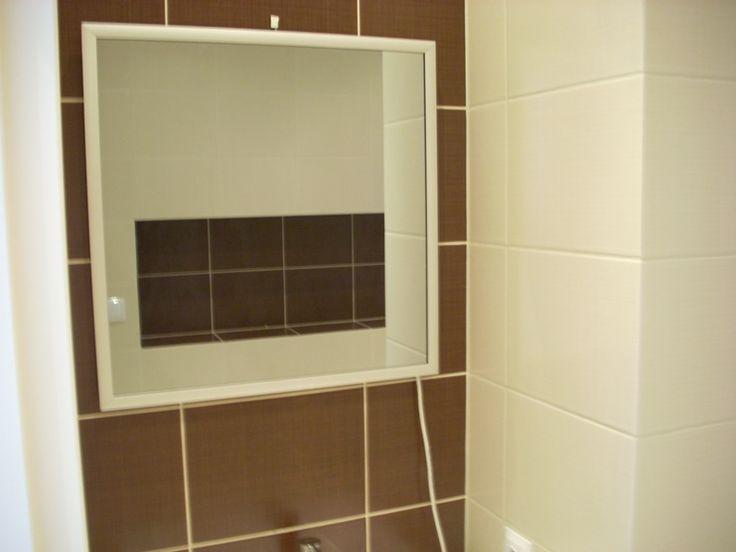 Lustro grzewcze na podczerwień model Radius Look - ogrzewanie łazienki
